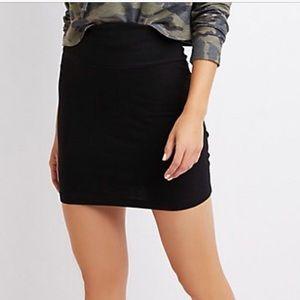 NWOT Charlotte Russe fold over bodicon skirt